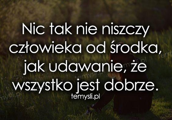 depresja - TeMysli.pl - Inspirujące myśli, cytaty, demotywatory, teksty, ekartki, sentencje