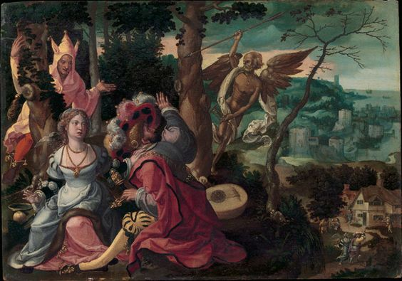 Lovers Surprised by a Fool and Death