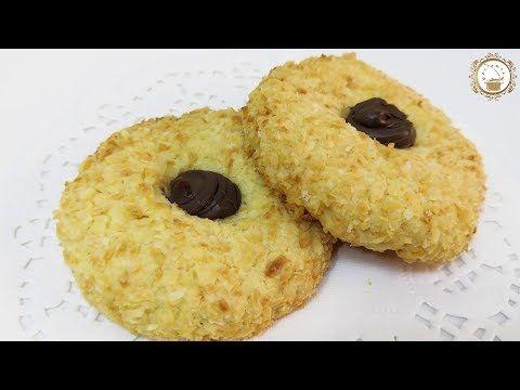 بسكويت جوز الهند حلى سهل و سريع و بمكونات متوافرة بمطبخك باي وقت حضريه في 5 دقائق Youtube Eid Stickers Food Desserts