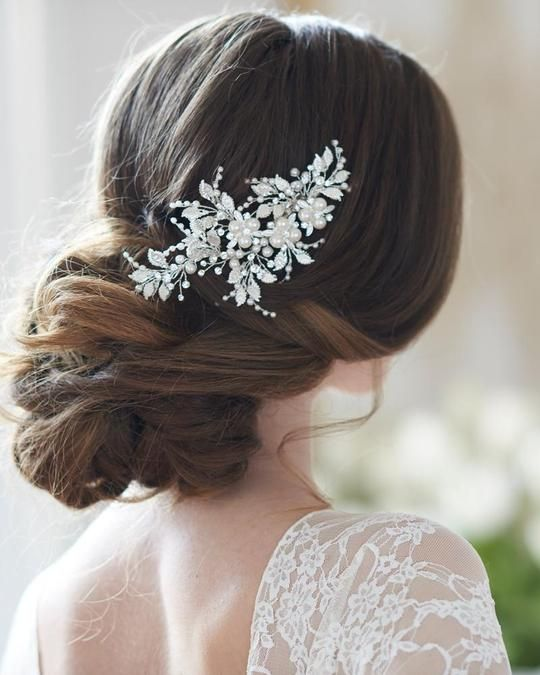 White Flowers Fascinator Hair Accessory Flowers attached to a branch Bridal Headpiece Wedding Hair Clip