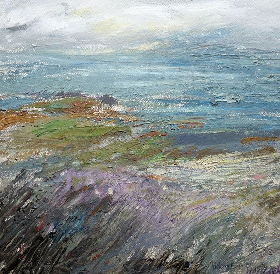 'Coming into purple, The Fank, Isle of Skye' Helena Emmans. https://www.facebook.com/pages/Helena-Emmans-Artist/205417846165136?ref=hl