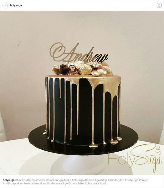 85th Birthday Black And Gold Cake Idea Goruntuler Ile