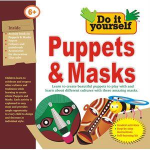 bpi puppets masks do it yourself kit for kids age 6 learn mask making includes activity. Black Bedroom Furniture Sets. Home Design Ideas