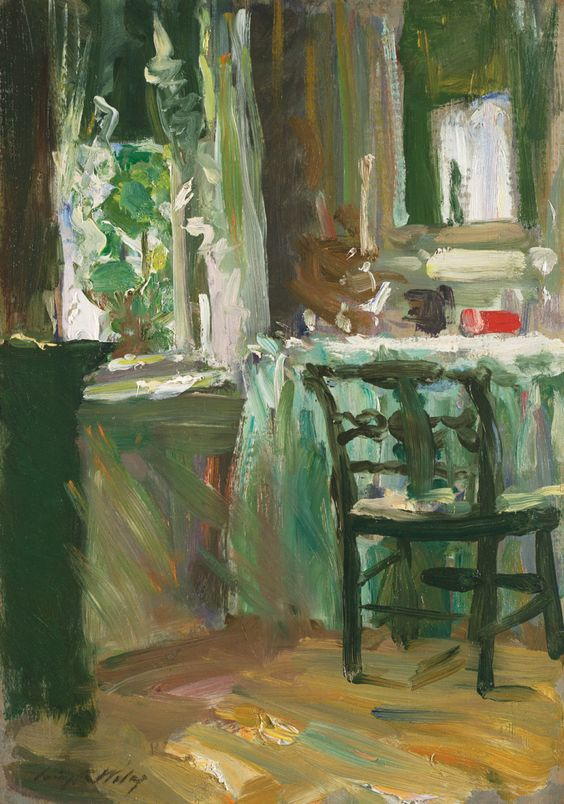 The Dressing Table - -by Irving Ramsey Wiles   about 1880/ American Impressionist Movement . . .at 1stdibs