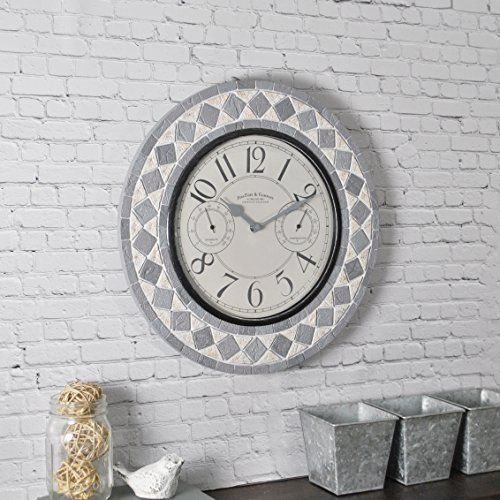 firstime 31036 patio pavers wall clock