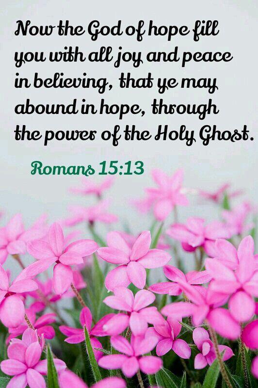 Romans 15:13 KJV: