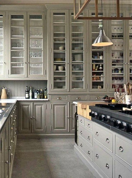 Brilliant Tall Kitchen Cabinet Ideas, Tall Kitchen Cabinets With Doors