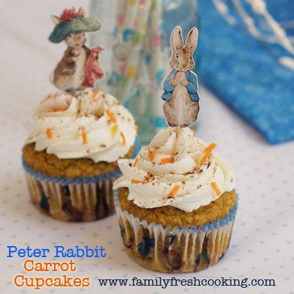 Peter Rabbit Carrot Cupcakes