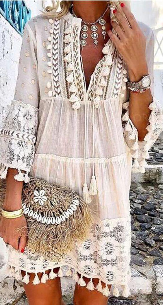 Big Sale!Bohemian Summer Holiday Daily Fashion Short Mini Dresses