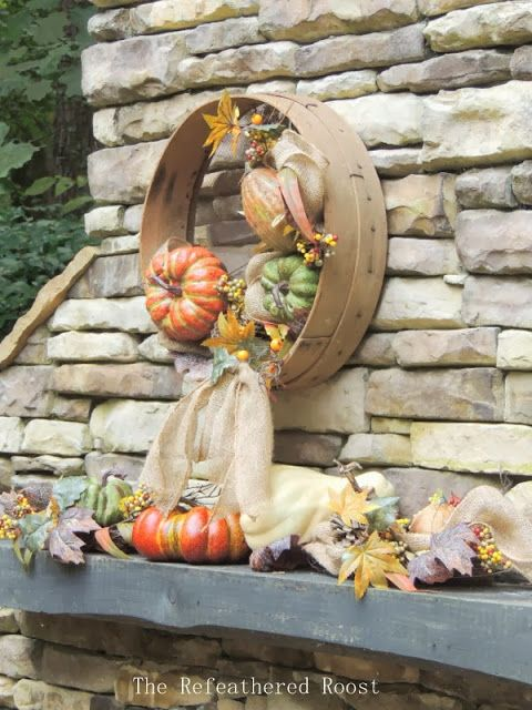 A Grain Sieve Fall Wreath | The Refeathered Roost