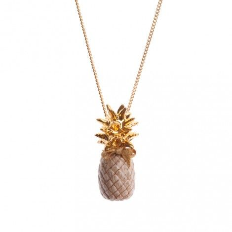 collier Ananas porcelaine