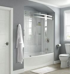 Delta Classic 400 Curve 30 In X 60 In X 80 In Bath And Shower Kit With Right Hand Drain In White Bvs400crw The Home Depot In 2020 Bathtub Shower Combo Bathtub Surround Bathtub Shower Doors