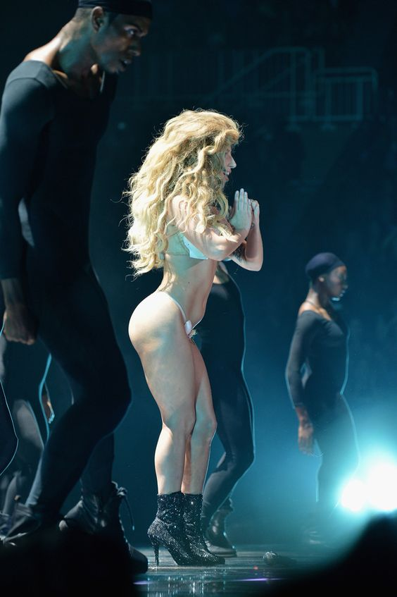 We saw it from the side. | Lady Gaga's Butt Was The True Star Of The VMAs