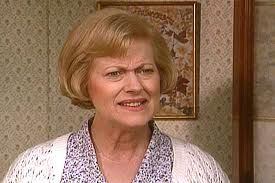 Elizabeth: I'm sorry Hyacinth, when I'm in this house I go to pieces.  Hyacinth: Well some people just can't help being clumsy.