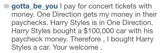 except for the part where i didnt buy concert tickets