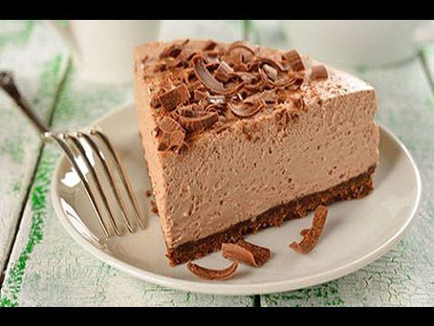 حلوى كيك بدون فرن في خمس دقائق كيكة روعة في المذاق حلويات سهلة وسريعة ال No Bake Chocolate Cheesecake Vegan Chocolate Chocolate Cheesecake Recipes