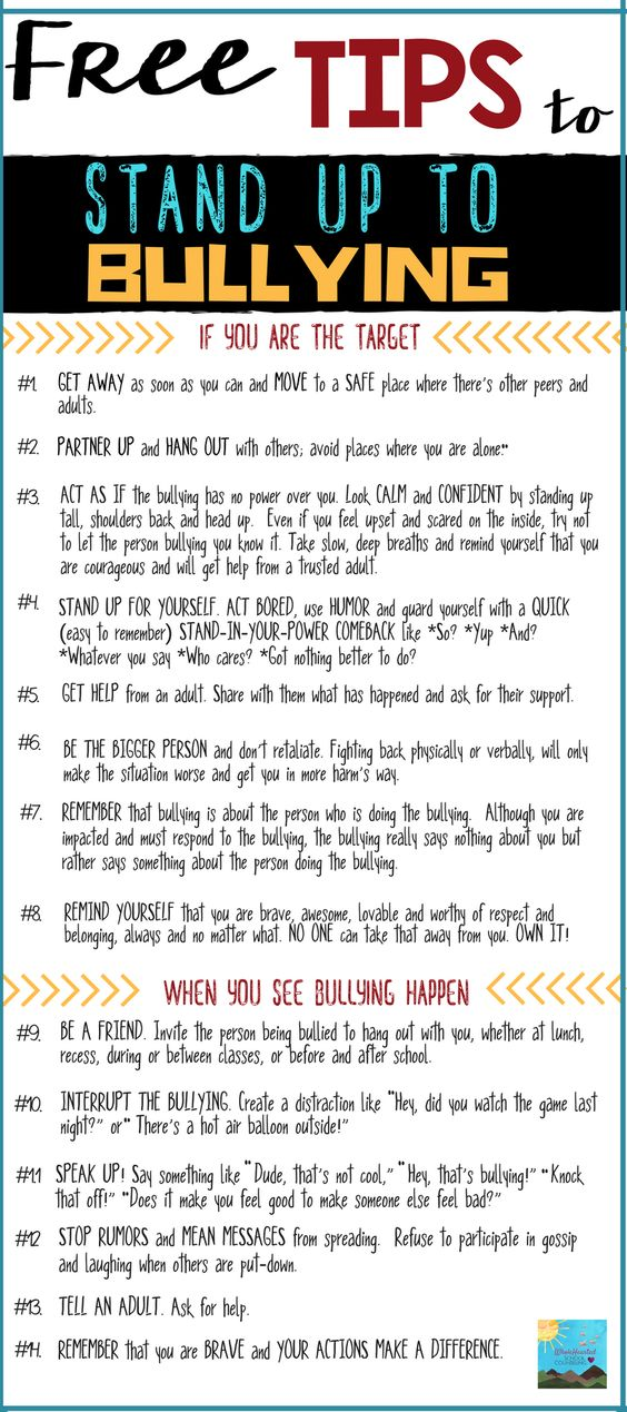 FREE DOWNLOAD on tips to help children stand up to bullying! Bully-Proof Guide.: