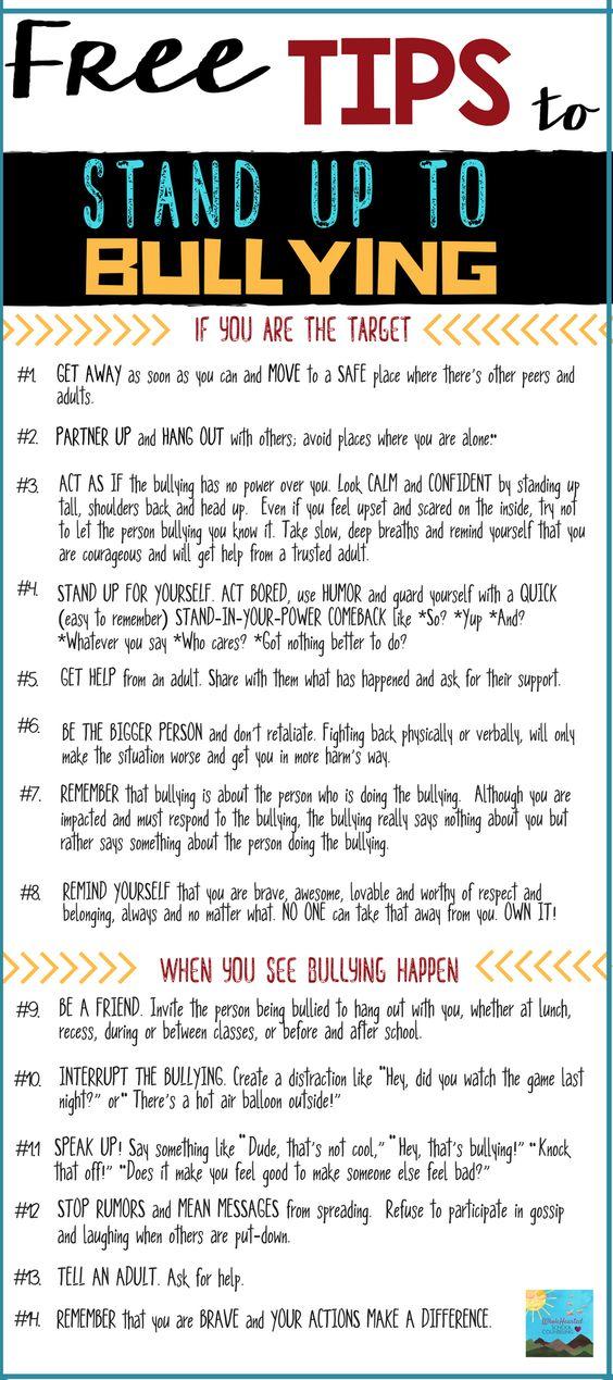 Tips For Bullying (Pinterest)