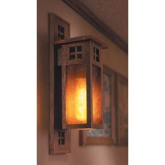 Buy Arts and Crafts Wall Sconce Woodworking Plan Mission Style at Woodcraft Dream Home ...