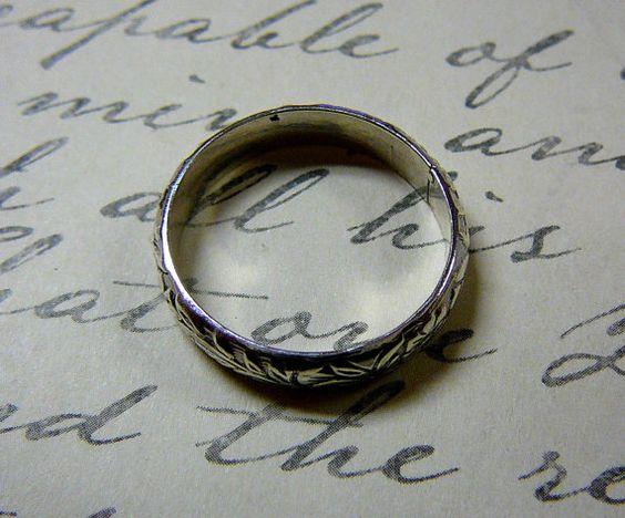 Vintage Engagement Sterling Silver Floral by EternalElementsShop