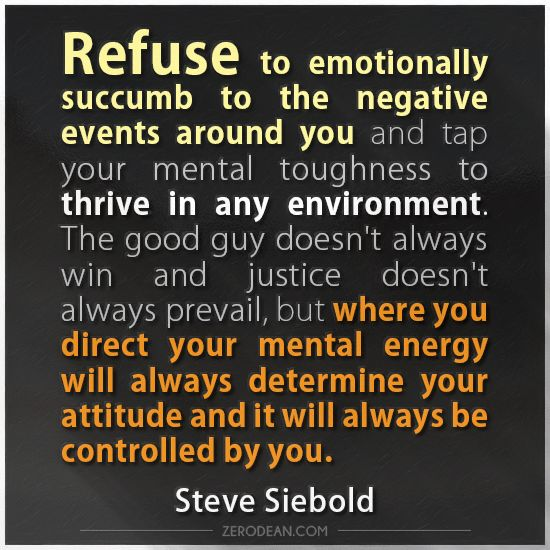 "Love Prevails Quotes: ""Refuse To Emotionally Succumb To The Negative Events"