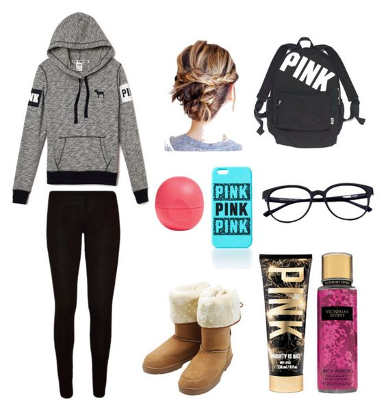 """Vs outfit"" by lindsey-30 on Polyvore featuring beauty, M&Co, Eos and Victoria's Secret"