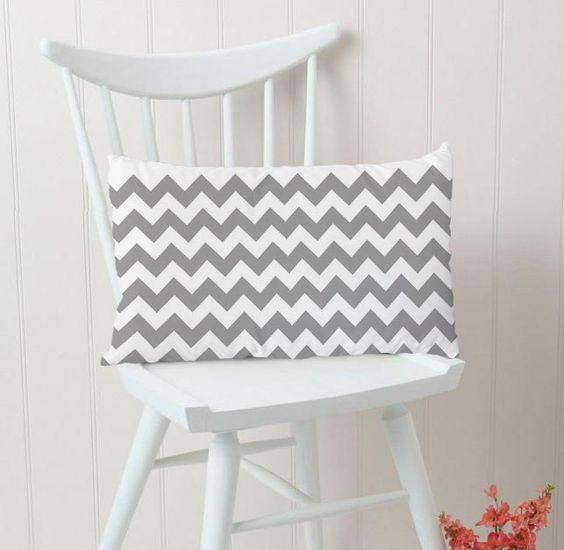 Grey Chevron Rectangular Pillow Cover Only $15.00 http://artbetinas.com/collections/rectangular-pillow-case