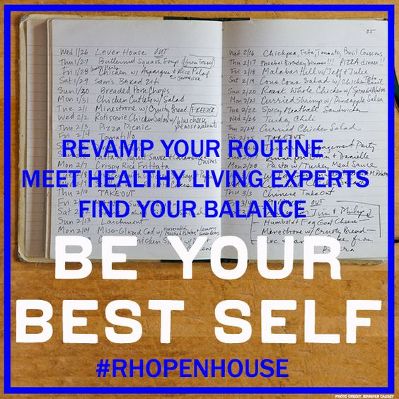 Be Your Best Self #RHopenhouse