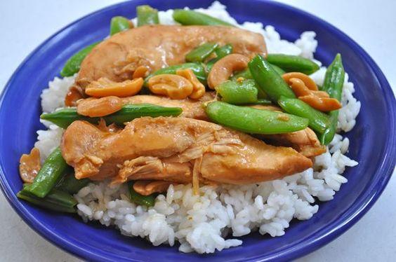 Slow Cooker Cashew Chicken Teriyaki