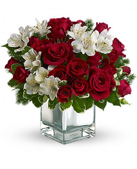 Teleflora's #Christmas Blush Bouquet #Flowers