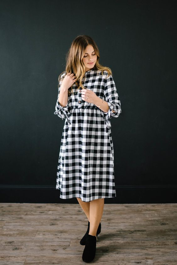 The Joanna Dress...channel your inner Joanna Gaines with this darling buffalo check dress <3