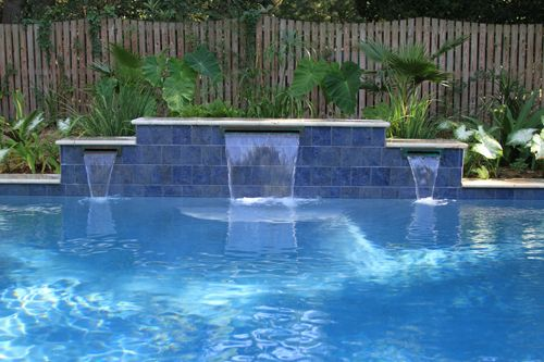 Swimming Pool With Water Features Located In Mt Pleasant Sc Swimming Pools Pinterest