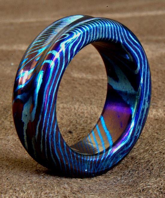 Pattern Welded Wedding Ring