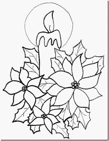 Vela Navidad 11 Patrones De Bordado De Navidad Dibujo Navidad Para Colorear Dibujo De Navidad