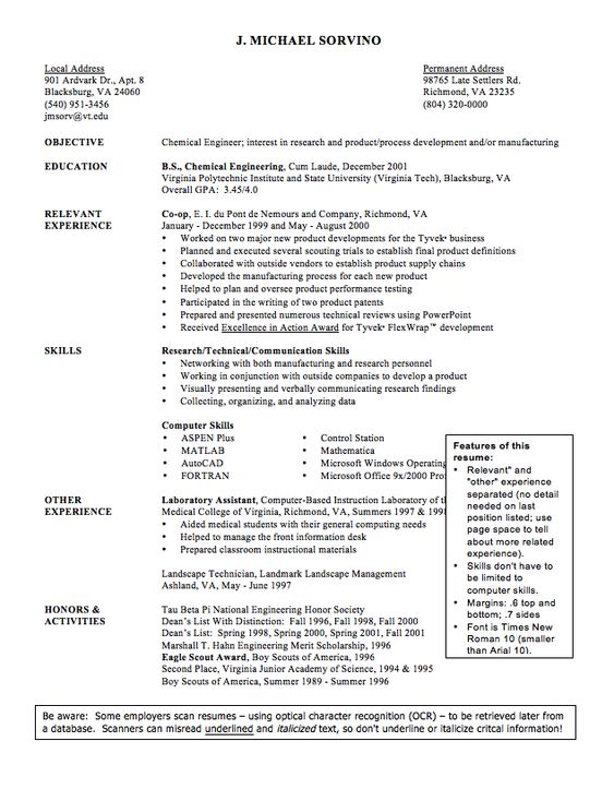 Sample Cv Of Chemical Engineer Resume - Http://Exampleresumecv.Org