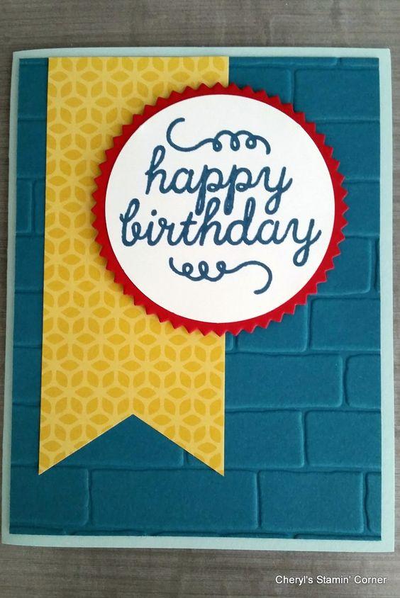 Cheryl's Stampin' Corner: A quick Happy Birthday!