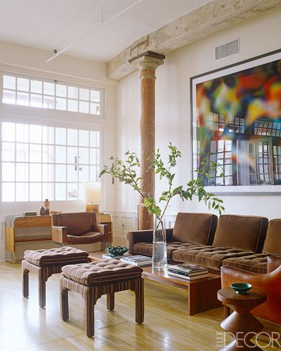 Loft Apartment Living Room Ideas: New York Loft, Elle Decor And Living Rooms On Pinterest