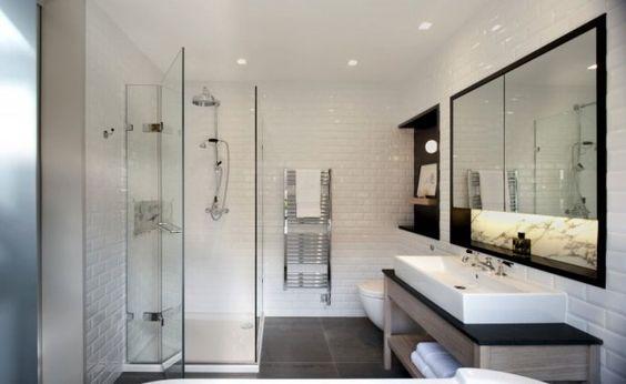 Salle de bain moderne en 90 idées d\u0027aménagement réussi Design et