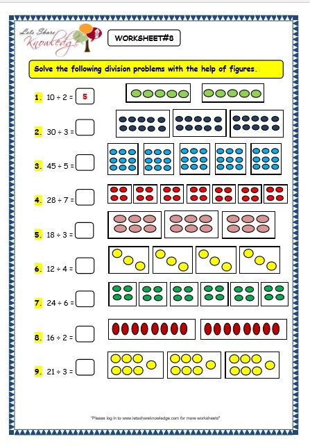 Grade 3 Maths Worksheets Division 6 2 Division By Grouping Lets Share Knowledge 3rd Grade Math Worksheets 3rd Grade Math 2nd Grade Math Worksheets