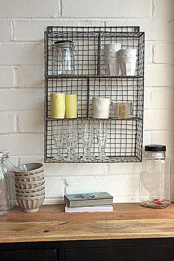Grid Wire Kitchen Shelf Storage
