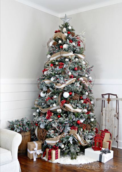 rustic christmas tree - Beautiful Christmas Tree Decorations