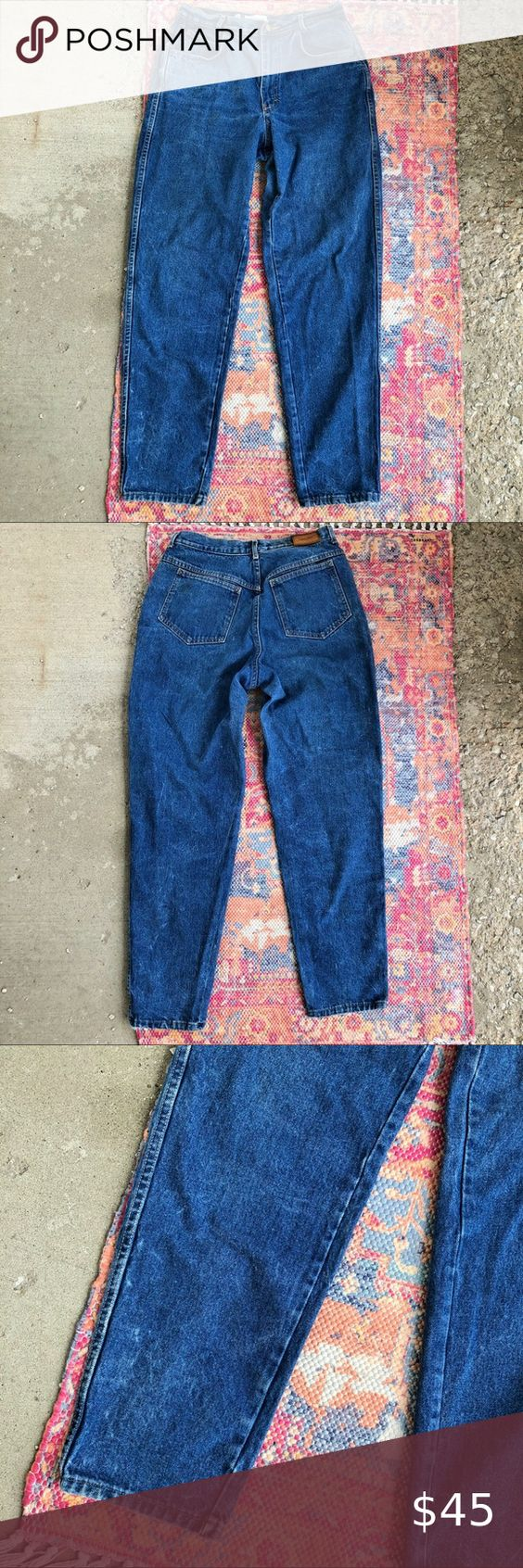 Vintage Clavin Klein High Waisted Mom Jeans Vintage Clavin Klein High Waisted Mom Jeans Tapered Leg Leather Ta High Waisted Mom Jeans Mom Jeans Women Jeans [ 1692 x 564 Pixel ]