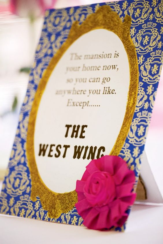 Belle Themed Bridal Shower Beauty And The Beast Wedding