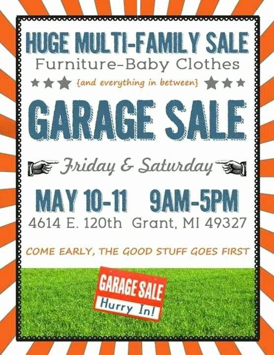 24 Garage Sale Flyer Template Free In 2020 With Images Yard