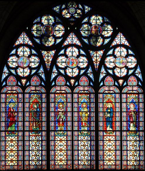 Vitrail de la fa ade didron 1901 vitraux d glise - Saint maclou chartres ...