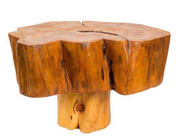 Salvaged Patagonian Cypress Wood Mushroom Side by PatronDesign, $585.00