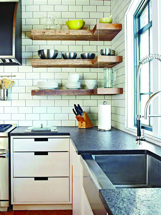 Stunning Ideas For A Bathroom Corner Shelves B Q Only In Mafahomes Com Open Kitchen Shelves New Kitchen Cabinets Shelves