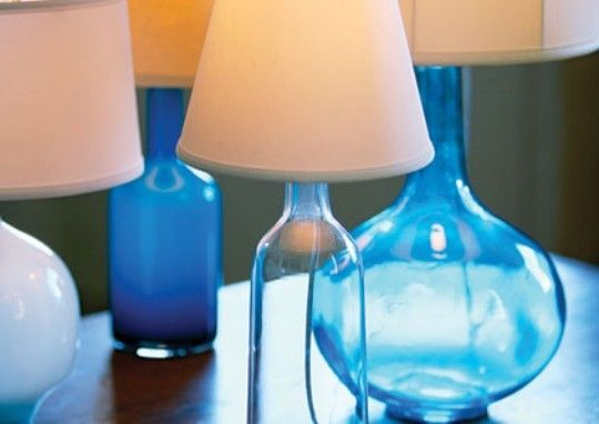 How to make a bottle lamp.