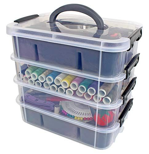 Stackable Plastic Storage Containers By Bins Things P Https Www Amazon Com Dp Craft Storage Containers Plastic Container Storage Plastic Storage Bins
