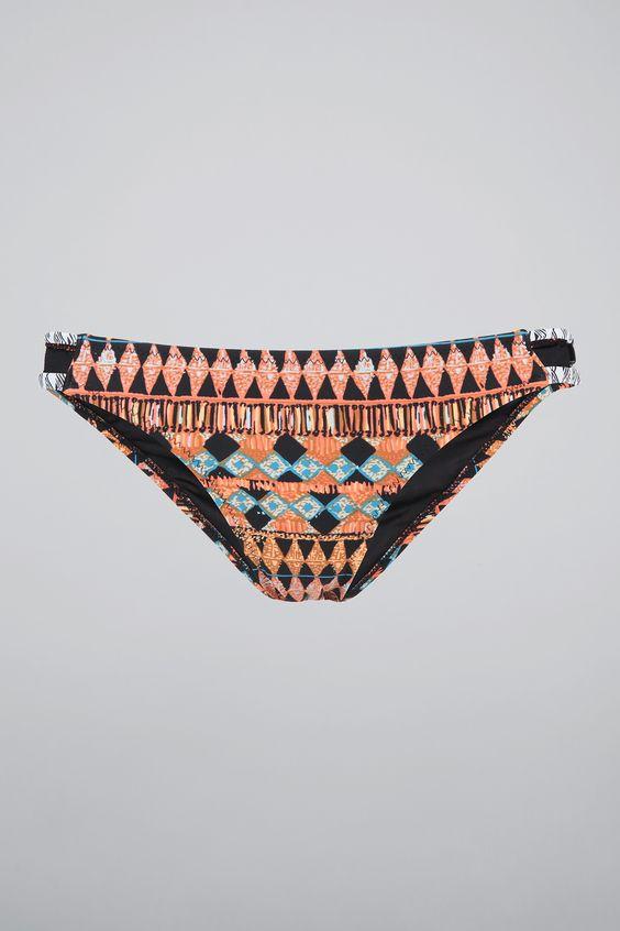 Maillot de bain culotte imprimés ethniques Corail Volcom sur MonShowroom.com
